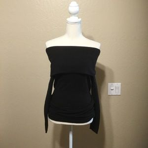 Black off shoulder sweater/ tunic